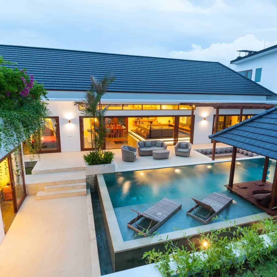 An Outdoor Living Space with Pool