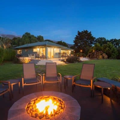Outdoor Area Crafted with Fire Pit and Chairs