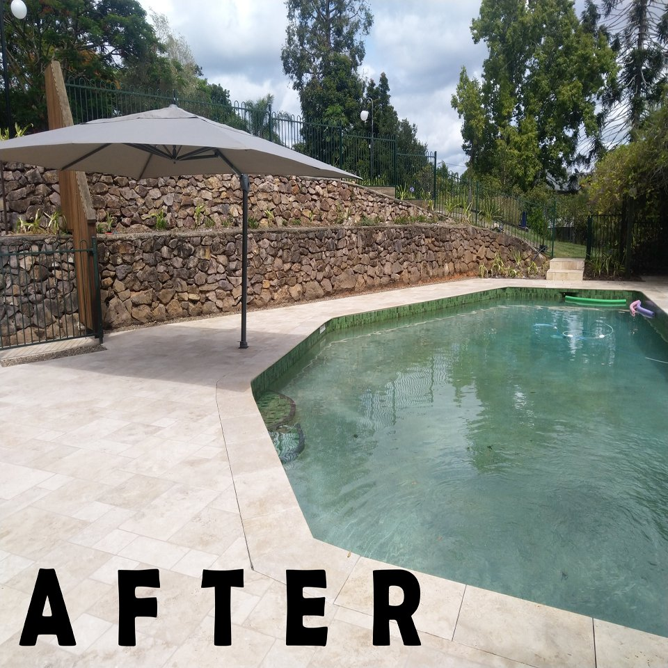 Outdoor Living Area After Contruction